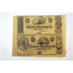 New Orleans Canal & Banking Co. uncut sheet.