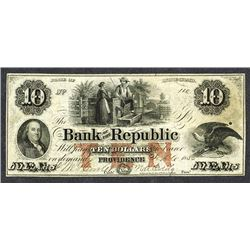 Bank of the Republic. 10 Dollars. 1855.