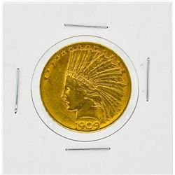 1909-D $10 AU Indian Head Gold Coin