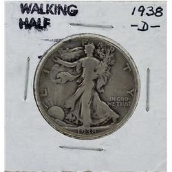 1938-D Walking Liberty Half Dollar Silver Coin
