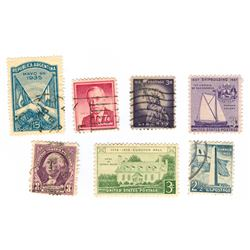 United States Postage Stamps Lot of 7