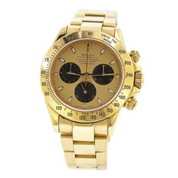 18KT Yellow Gold Rolex Daytona Paul Newman Chronograph Watch