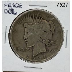 1921 Peace Silver Dollar Coin