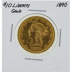 1890 $10 Liberty Head Gold Coin