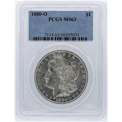 1880-O Morgan Silver Dollar Coin PCGS Graded MS63