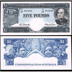 Australia, Five Pounds, Coombs/Wilson (1960) TC/09 052640 (R.50)