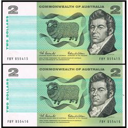 Australia, Two Dollars, Coombs/Wilson (1966) FBY 855415/16 (R.81)