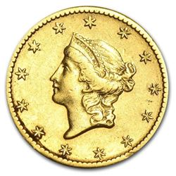 $1 Liberty Head Gold - Type 1 AU ( Minted 1849-1854) Around 160 Years Old