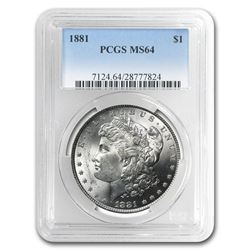 1881 Morgan Dollar NGC MS-64