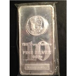 10 oz Pure Silver Bar - Morgan Design