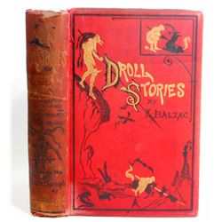 "ANTIQUE ""DROLL STORIES"" HARDCOVER BOOK - GUSTAVE DORE"