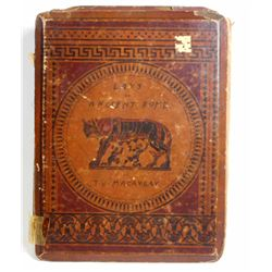 """1849 """"LAYS OF ANCIENT ROME"""" HARDCOVER BOOK"""