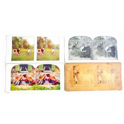 LOT OF 4 VINTAGE BLACK AMERICANA STEREOVIEW PHOTO CARDS