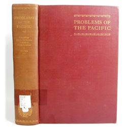 """1928 """"PROBLEMS OF THE PACIFIC"""" HARDCOVER BOOK"""