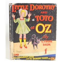 """1939 """"LITTLE DOROTHY AND TOTO OF OZ"""" HARDCOVER BOOK"""