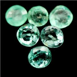 LOT OF 6.84 CTS OF GREEN ZAMBIA EMERALDS
