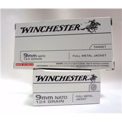 2 Boxes of Winchester 9mm Nato Centerfire Cartridges