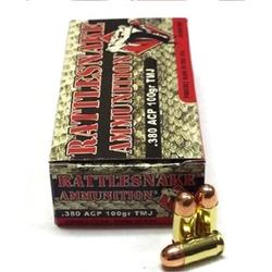 2 Boxes of Rattlesnake Ammo .380 ACP