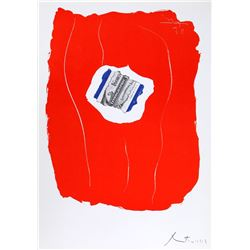 Robert Motherwell, Tricolor 137, Lithograph