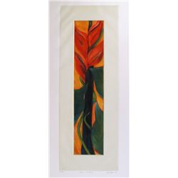 Lisa Falls, Leaves Winding from the Brooklyn College Women's Portfolio, Aquatint Etching