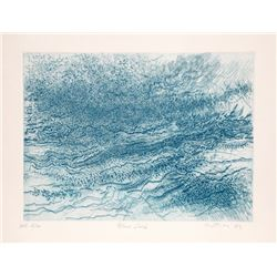Gabor Peterdi, Blue Surf, Etching
