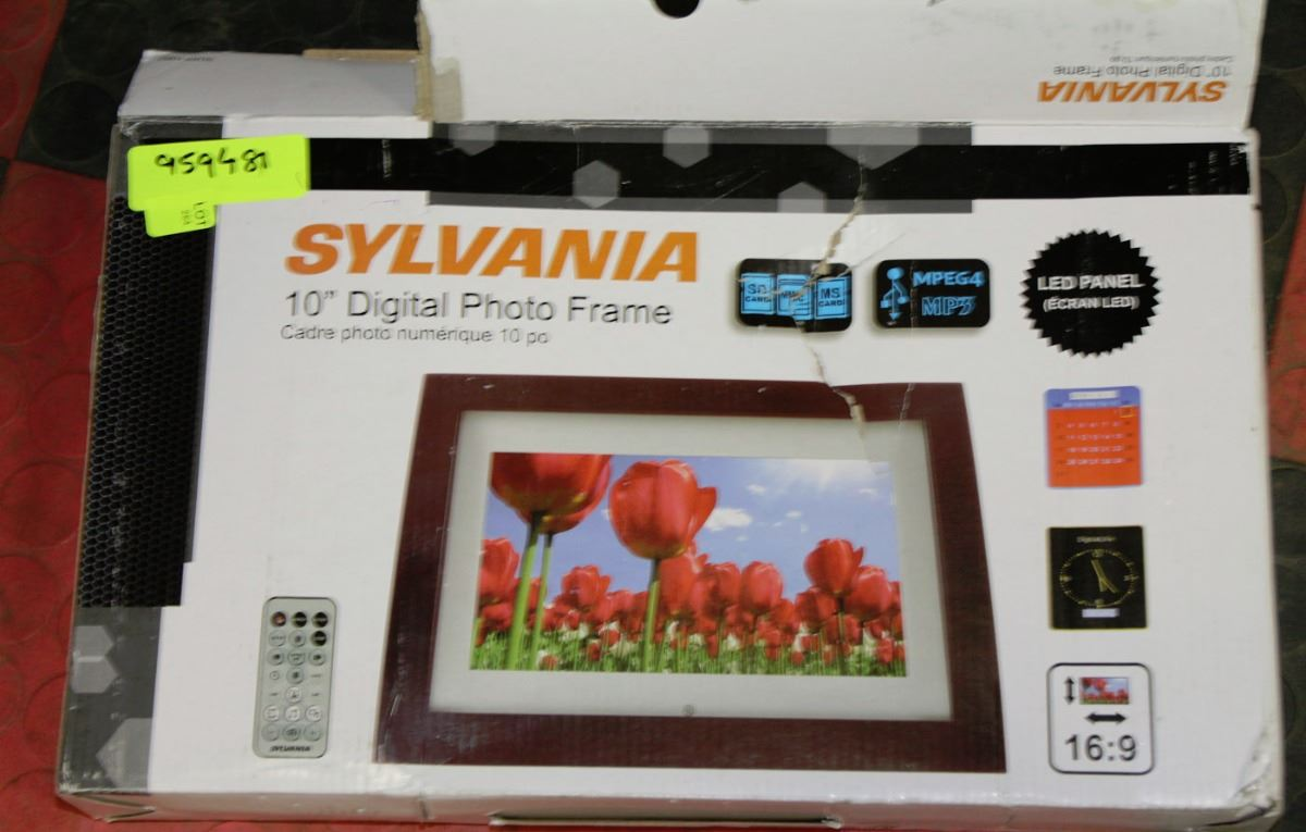 image 1 sylvania 10 digital photo framemp3 system