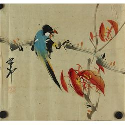 WC Bird Painting on Paper Zhao Shaoang 1905-1998