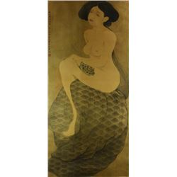 Chinese WC Beauty Painting Wang Meifang 1949-