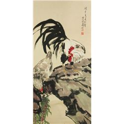 WC Chicken Scroll Xu Beihong 1895-1953