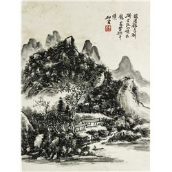 WCLandscape Scroll Painting Huang Binhong1865-1955