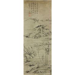 WC Landscape on Scroll Cha Shibiao 1615-1698