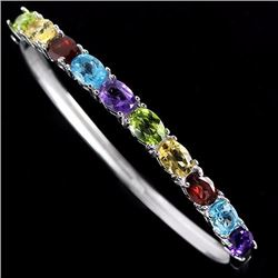 Natural Gemstone Bangle