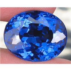 Natural London Blue Topaz 24.50 carats- Flawless