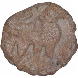 Extremely Rare Copper Drachma Coin of Western Kshatrapas of Nahapana.