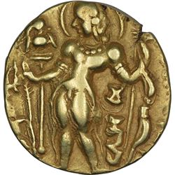 Rare Gold Dinar Coin of Gupta Dynasty of Chandragupta II of Archer Type.