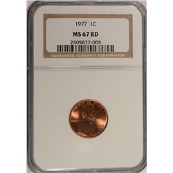1977 LINCOLN CENT NGC MS-67 RD