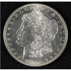 1885-S MORGAN SILVER DOLLAR, CHOICE BU  SEMI-PL