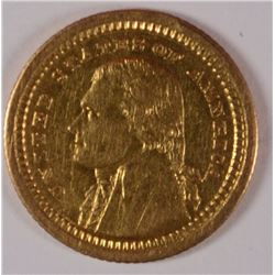 1903 LOUISIANA PURCHASE/JEFFERSON GOLD, AU ( minor rim bump )