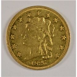 1836 $2.50 GOLD CHOICE AU