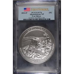 2014 (5 OZT .999 FS) SHENANDOAH PCGS SP-70 (FIRST STRIKE)