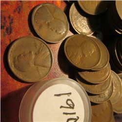 (49) 1910 P, (1) 12P, & (1) 20 P Lincoln Cents in a plastic coin tube. Average circulated.