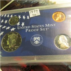 1999 S U.S. Proof Cent, Nickel, Dime, & Half Dollar in U.S. Mint Plastic case.