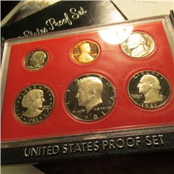 1981 S U.S. Proof Set with Susan B. Anthony Dollar. Original as issued.