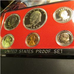 1974 S U.S. Proof Set with Eisenhower Dollar in original plastic case of issue. No box.