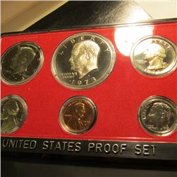 1973 S U.S. Proof Set with Eisenhower Dollar in original Box & plastic case of issue.