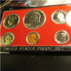 1975 S U.S. Proof Set with Eisenhower Dollar in original Box & plastic case of issue.