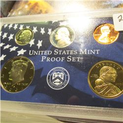 2002 S U.S. Proof Cent, Nickel, Dime, Half-Dollar, & Dollar in U.S. Mint Plastic case.