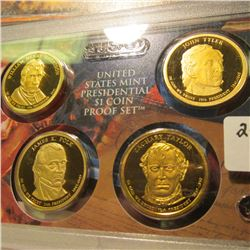 2009 S U.S. Proof Presidential Dollar 4 pc. Coin Set in U.S. Mint Plastic case.
