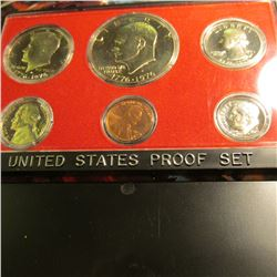 1975 S U.S. Proof Set with Eisenhower Dollar in original plastic case of issue.