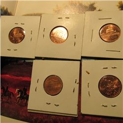 2009 Four-Piece Set of Lincoln Commemorative Cents. BU & 2012 P Shield Lincoln Cent.